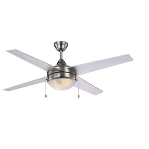 Cappleman Brushed Nickel Two-Light Ceiling Fan