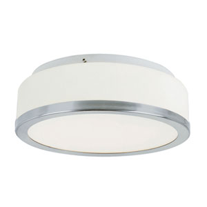 Round Opal 13-Inch Flush Mount with White Frosted Glass