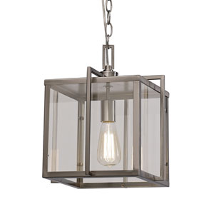 Brushed Nickel One-Light 12-Inch Wide Pendant