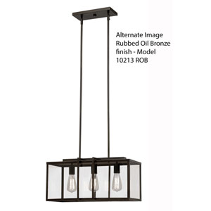 Rubbed Oil Bronze Four-Light 28.5-Inch Deep Pendant