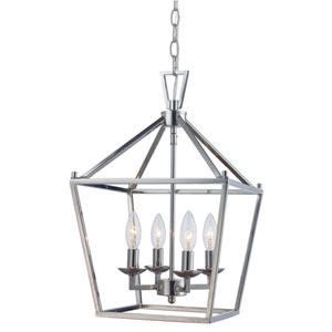 Lacey Polished Chrome Four-Light Pendant