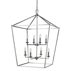 Lacey Polished Chrome 26-Inch Eight-Light Pendant