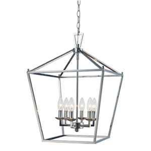 Lacey Polished Chrome 16-Inch Six-Light Pendant