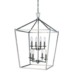 Lacey Polished Chrome 19-Inch Eight-Light Pendant