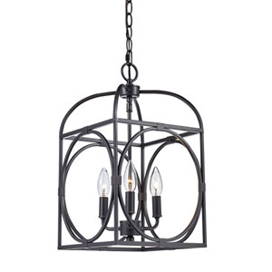 Academy Oil Rubbed Bronze Three-Light Pendant