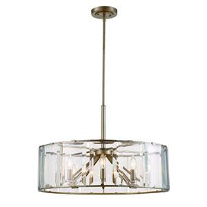 Vernon Antique Silver Leaf Eight-Light Pendant
