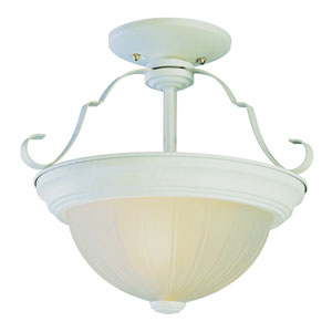 Classic 11 Inch Semi Flush-Mount -Antique White