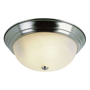 The Standard 15 Inch Three-Light Flush Mount