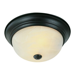 The Standard 15 Inch Three-Light Flush Mount In Bronze