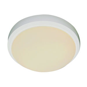 Classic Frosted 13 Inch Flush-Mount -White
