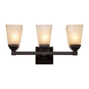 Black Three-Light Bath Bar