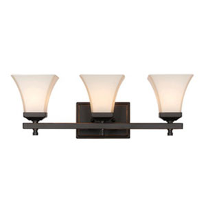 Castelle Oil Rubbed Bronze Three-Light Bath Vanity