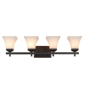 Castelle Oil Rubbed Bronze Four-Light Bath Vanity