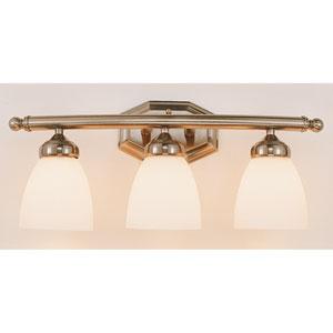 TempThree-Light Bath Light Fixture -Brushed Nickel