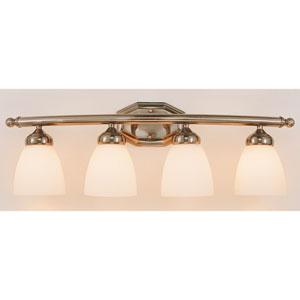 TempFour-Light Bath Light Fixture -Brushed Nickel