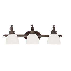 Button Willow Three-Light Wall Bar In Bronze
