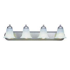 Morgan House Four-Light Bath Light Fixture Up Nickel