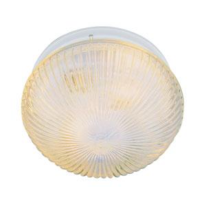 Holophane 10 Inch Ribbed Flushmount - White
