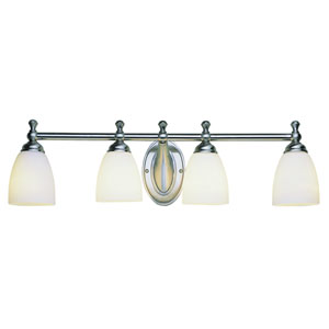 Marquess Rubbed Oil Bronze Four Light Bath Fixture with White Opal Glass