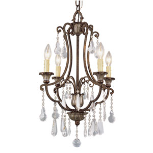Crystal Flair Four-Light Crystal Chandelier with Crystal