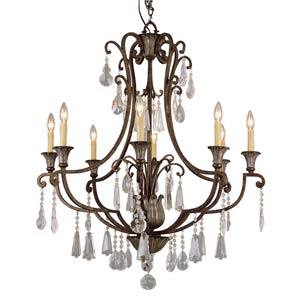 Crystal Flair Eight-Light Crystal Chandelier with Crystal