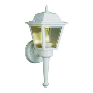 Class I 14 Inch High Outdoor Wall Light -White