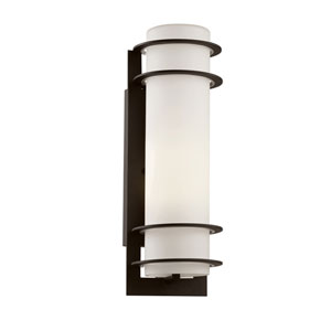 Cityscape Black Torch 16-Inch Wall Sconce with White Frost