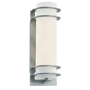 Cityscape Silver Torch 16-Inch Wall Sconce with White Frost