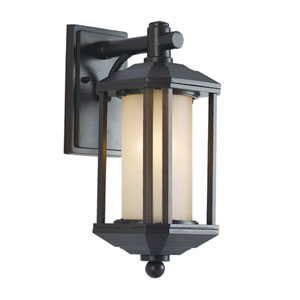 Rubbed Oil Bronze One-Light 16-Inch High Outdoor Wall Lantern