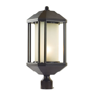 Rubbed Oil Bronze One-Light 22-Inch High Outdoor Post Light
