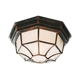 Wagoneel Black Copper Nine-Inch Outdoor Flush Mount