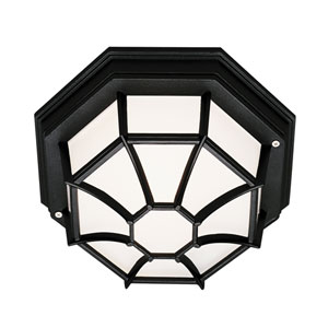 Wagoneel Black 9-Inch Outdoor Flush Mount Ceiling Light