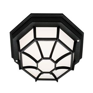 Wagoneel Black 11-Inch Outdoor Flush Mount Ceiling Light