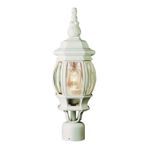 Rochefort 19 Inch Post Top Lamp -White