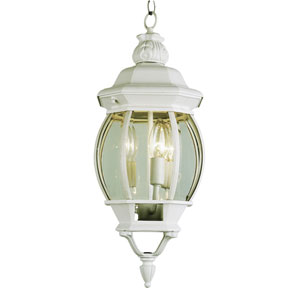 Rochefort 25-Inch Outdoor Hanging Lantern in Iron with Beveled Clear Glass