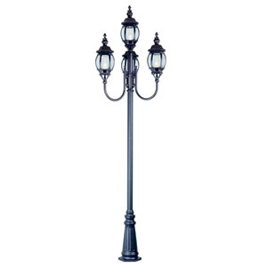 Niort Black 96 Inch High 4 Lantern Lamp Four-Light Post