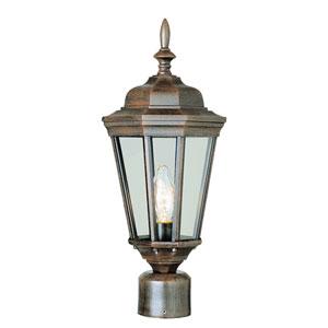 Waldorf 20 Inch High Post Top Lantern In Rust