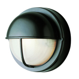 8 Inch Wide Round Seamed Bulkhead -Black