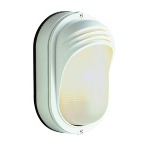 8 1/2 Inch High Oval Lashed Bulkhead -White
