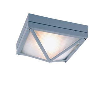 Craftsman Ho Ail Gray 8.5-Inch Diamond Outdoor Flush Mount Ceiling Light
