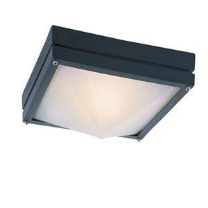 Craftsman Ho Ail Black 8.5 Inch Outdoor Flush Mount Ceiling Light