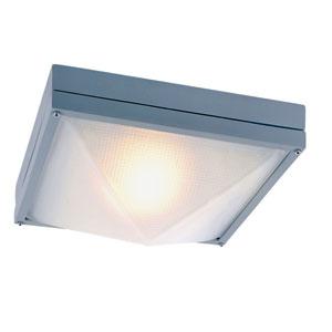 Craftsman Ho Ail Gray 12.5-Inch Outdor Flush Mount Ceiling Light