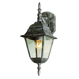 Amherst 16 Inch Down Candle Carriage Lamp -White