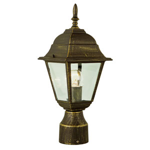 Amherst 20 Inch High Post Top Lamp -Black Gold