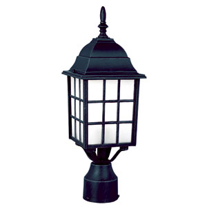 City Mission 18 Inch Post Top Lantern -Black