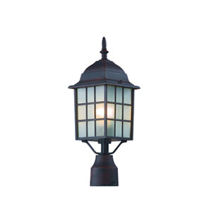 City Mission 18 Inch Post Top Lantern Rust -Rust