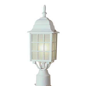 City Mission 18 Inch Post Top Lantern -White
