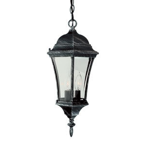 Summerville 22 Inch Three-Light Outdoor Hanging Lamp-White