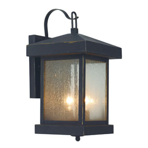 Two-Light Weather Bronze Downlight Outdoor Wall Light