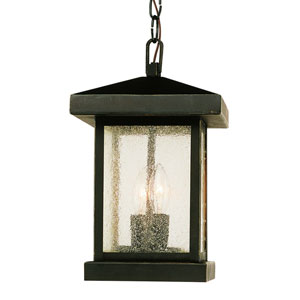 Two-Light Weather Bronze Outdoor Pendant